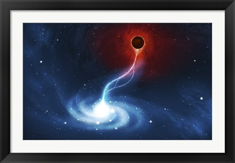 Framed Black Hole Print