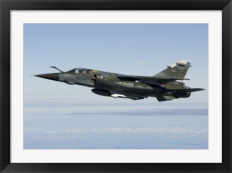 Framed Mirage F1CR of the French Air Force Print