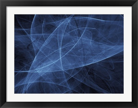 Framed Abstract Blue Two Print