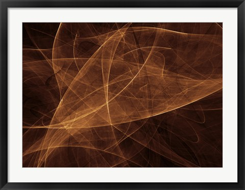 Framed Abstract Gold Two Print