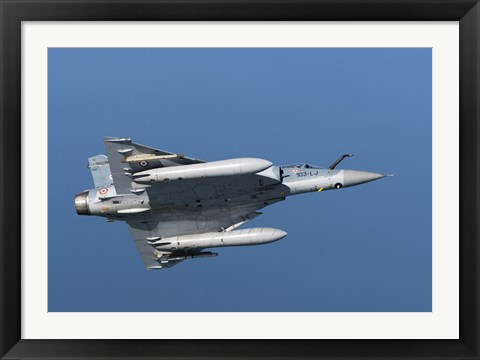 Framed Mirage 2000C of the French Air Force (bottom view) Print