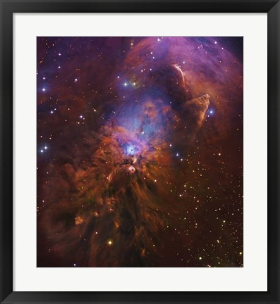 Framed Bright Reflection Nebula in Orion Print