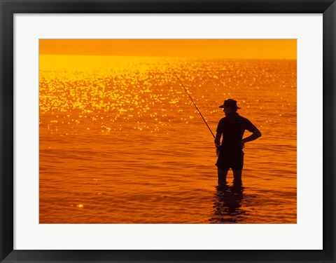 Framed Fishing, Surfer's Paradise, Australia Print