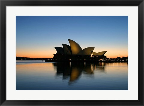 Framed Sydney Opera House at Dawn, Sydney, Australia Print