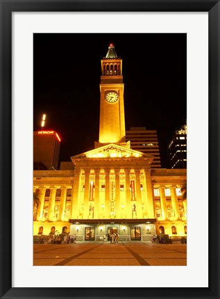 Framed City Hall, King George Square, Brisbane, Queensland, Australia Print