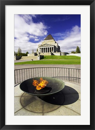 Framed Eternal Flame, Shrine of Rememberance, Melbourne, Victoria, Australia Print