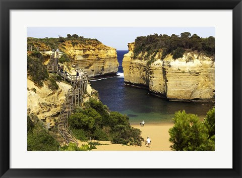 Framed Loch Ard Gorge, Port Campbell National Park, Great Ocean Road, Victoria, Australia Print