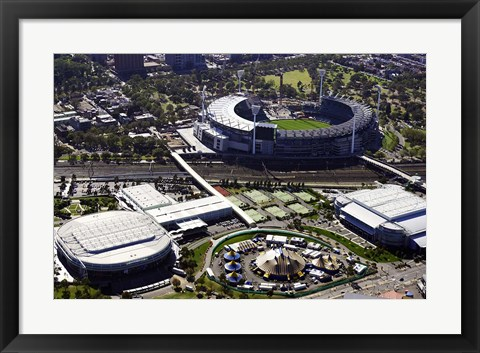 Framed Rod Laver Arena and Melbourne Cricket Ground, Melbourne, Victoria, Australia Print
