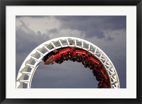 Framed Rollercoaster, Sea World, Gold Coast, Queensland, Australia Print