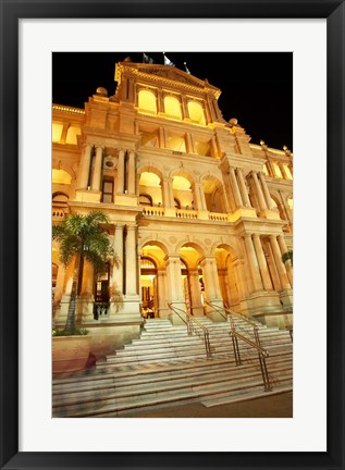 Framed Treasury Casino, Brisbane, Queensland, Australia Print