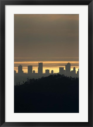 Framed Surfers Paradise, Gold Coast, Queensland, Australia Print