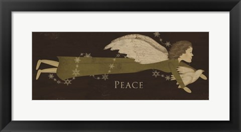 Framed Angel Peace Print