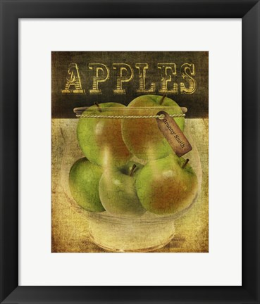 Framed Grannysmith Apples Print