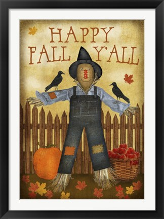 Framed Happy Fall Y'all Print