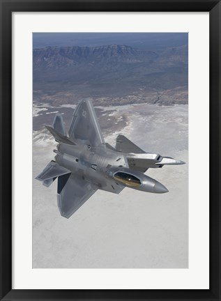 Framed Two F-22 Raptors over New Mexico (vertical) Print