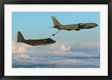 Framed MC-130H Combat Talon II Being Refueled by a KC-135R Stratotanker Print