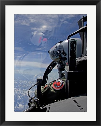 Framed F-15 Eagle Pilot with his Wingman (close up) Print