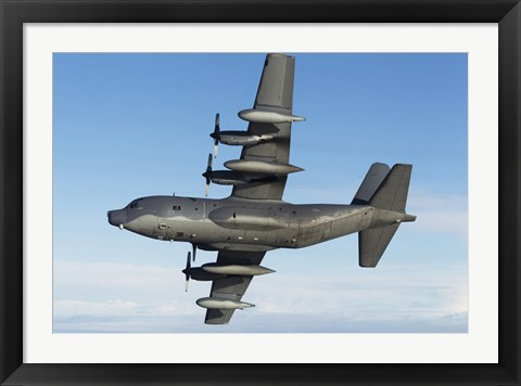Framed MC-130P Combat Shadow in flight (bottom view) Print