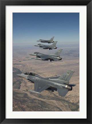Framed Four F-16's on a Training Mission Print