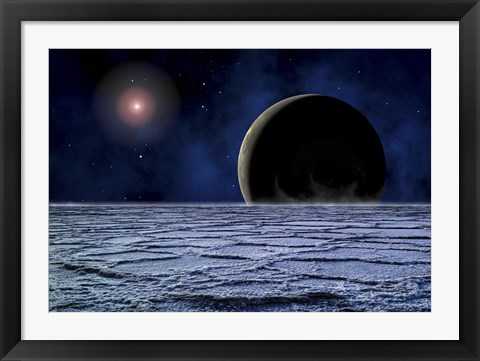 Framed Distant Star Illuminates an Extrasolar Planet Print