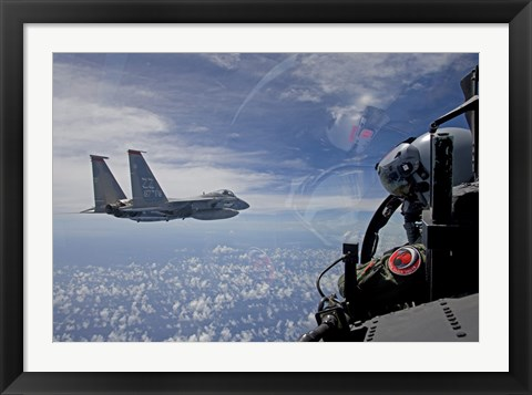 Framed F-15 Eagle Pilot with his Wingman Print