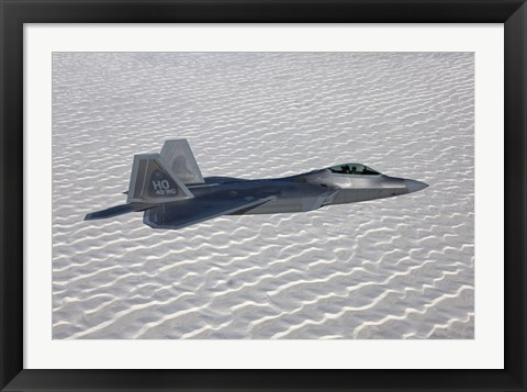 Framed F-22 Raptor Flies Around Southern New Mexico Print
