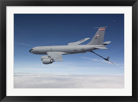 Framed KC-135R Flies a Training Mission over Arizona Print
