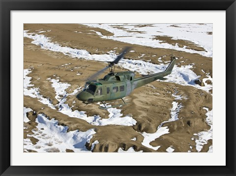 Framed UH-1N Twin Huey, New Mexico Print