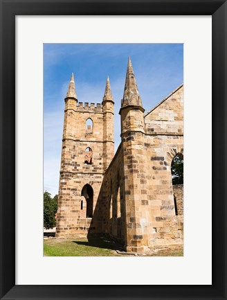 Framed Tower at Port Arthur historic penitentiary, Australia Print