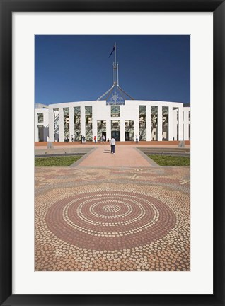 Framed Australia, ACT, Canberra, Tile, Parliament House Building Print
