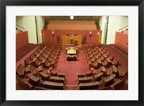 Framed Australia, Canberra, Parliament House, Capital Hill Print