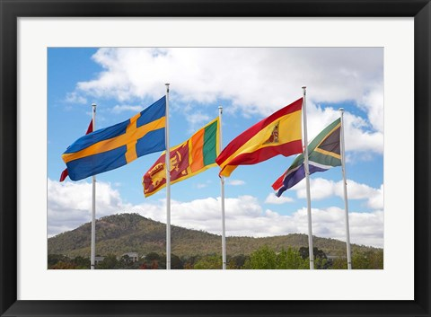 Framed Australia, International Flags, Commonwealth Place Print