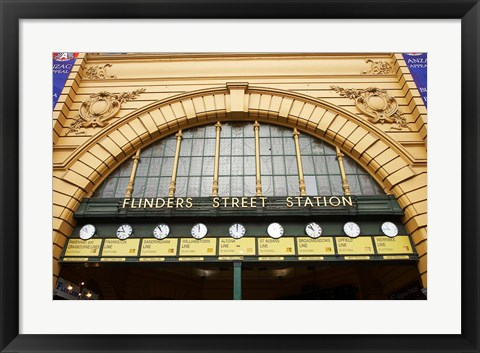 Framed Australia, Melbourne, Flinders Street Train Station Print