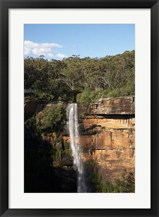 Framed Australia, New South Wales, Fitzroy Waterfall, Morton NP Print