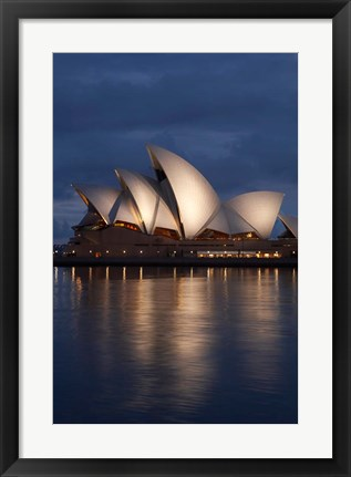 Framed Australia, New South Wales, Sydney Opera House Silhouette Print