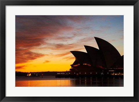 Framed Australia, New South Wales, Sydney Opera House at Dawn Print