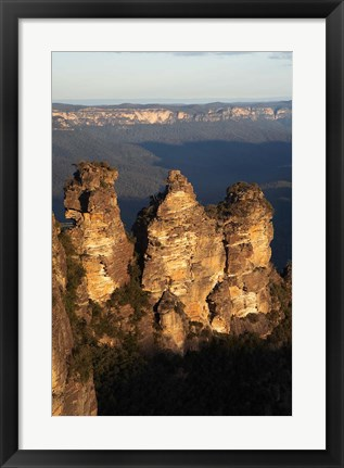 Framed Australia, New South Wales, Three sisters, rock formation Print