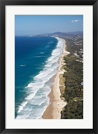 Framed Australia, Queensland, Sunshine Beach coastline Print