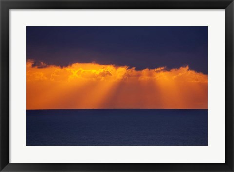 Framed Sunrise over Tasman Sea, Australia Print