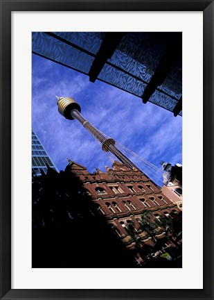 Framed AMP Tower and Highrises, Sydney, Australia Print