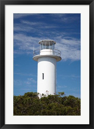 Framed Cape Tourville Lighthouse, Freycinet NP, Australia Print