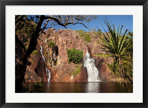 Framed Cascade of Wangi Falls, Litchfield National Park, Northern Territory, Australia Print