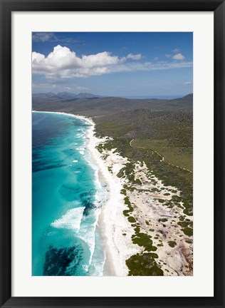 Framed Friendly Beaches Coastline, Freycinet NP, Australia Print