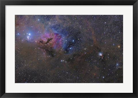Framed Nebulosity in the Taurus Constellation Print