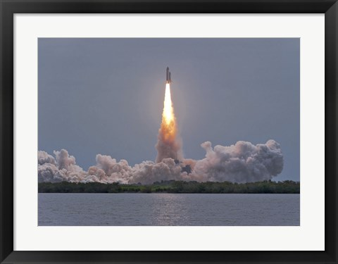 Framed Launch of Space Shuttle Atlantis Print