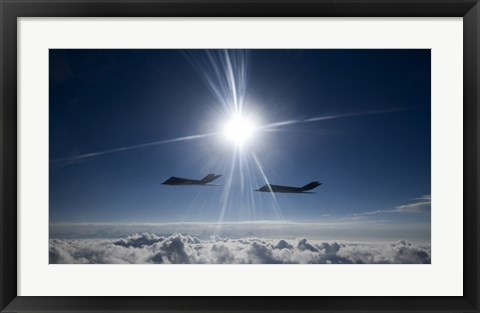 Framed Two F-117 Nighthawk Fighters Print
