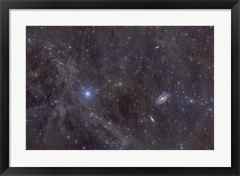 Framed Galaxies M81 and M82 Print
