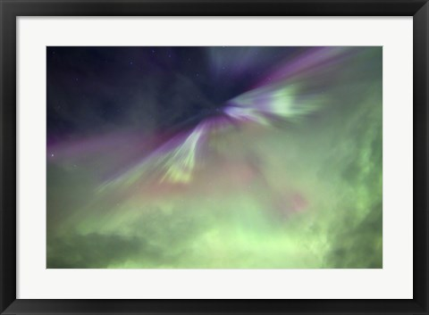 Framed Aurora Borealis and Big Dipper Burst, Canada Print