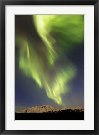 Framed Aurora Borealis over Emerald Lake, Carcross, Yukon, Canada Print