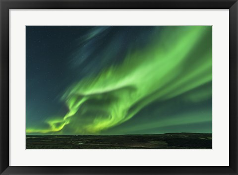 Framed Large Aurora Borealis Display in Iceland Print